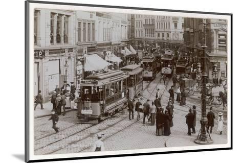 Hamburg Street Scene--Mounted Photographic Print