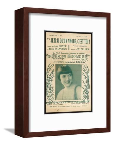 Louise Brooks Song Sheet--Framed Art Print