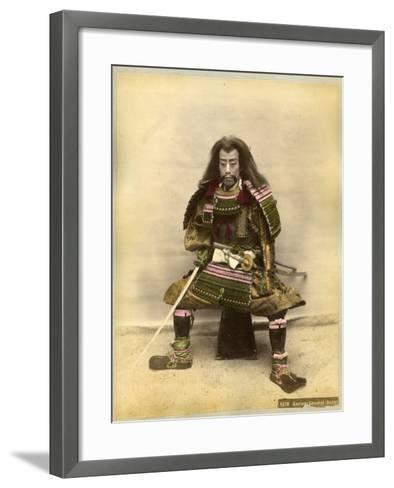 Japanese Actor in the Costume of a Samurai Warrior--Framed Art Print