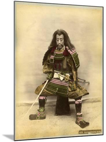 Japanese Actor in the Costume of a Samurai Warrior--Mounted Photographic Print