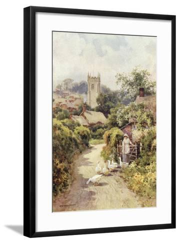 Bere Regis, Dorset-Ernest W Haslehust-Framed Art Print
