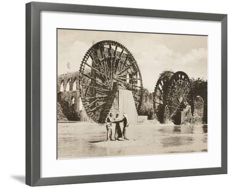 Large Waterwheel at Antakya--Framed Art Print
