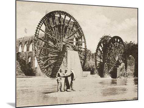 Large Waterwheel at Antakya--Mounted Photographic Print