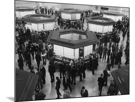 A Busy Scene at the London Stock Exchange--Mounted Photographic Print