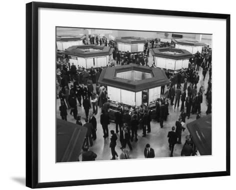 A Busy Scene at the London Stock Exchange--Framed Art Print