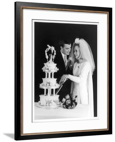 A Bride and Groom--Framed Art Print