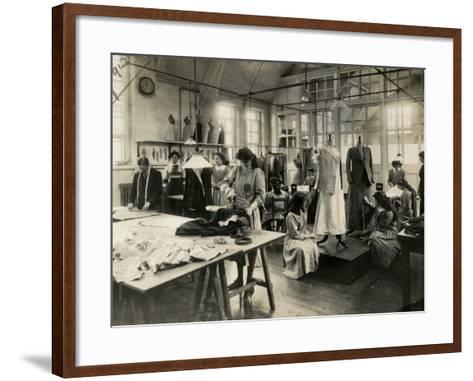 Dressmaker's Workshop-Peter Higginbotham-Framed Art Print