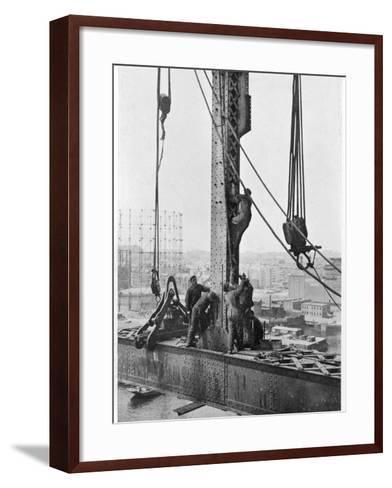 Bridge Building America--Framed Art Print