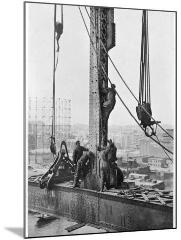 Bridge Building America--Mounted Photographic Print