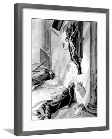 Church Defiled in the Spanish Civil War, 1937--Framed Art Print
