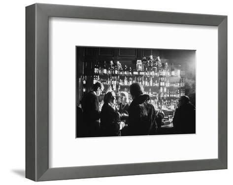 Barmaid in Smoky Pub--Framed Art Print