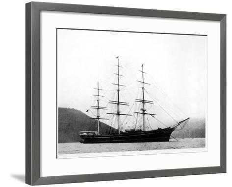 Cutty Sark under Anchor--Framed Art Print
