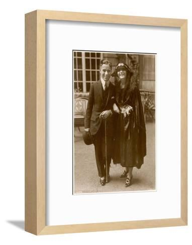Charlie Chaplin (Sir Charles Spencer) English Comedian and Actor with Pola Negri--Framed Art Print