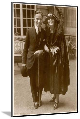 Charlie Chaplin (Sir Charles Spencer) English Comedian and Actor with Pola Negri--Mounted Photographic Print