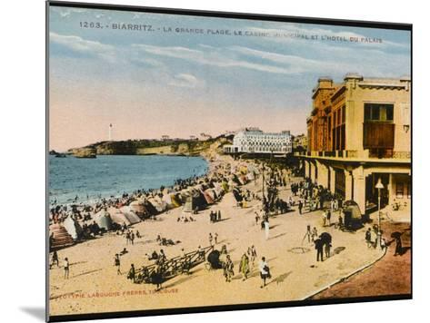 Biarritz: View of the Beach, Casino Municipal and Hotel Du Palais--Mounted Photographic Print
