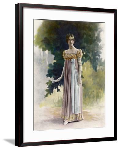 Cleo De Merode French Actress and Dancer in Italian Renaissance Costume--Framed Art Print
