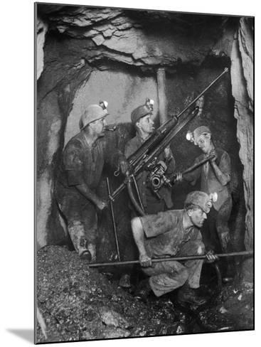Cornish Tin Miners Below Ground--Mounted Photographic Print