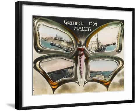 Greetings from Malta--Framed Art Print