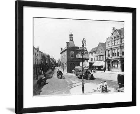 High Street, Reigate, Surrey--Framed Art Print