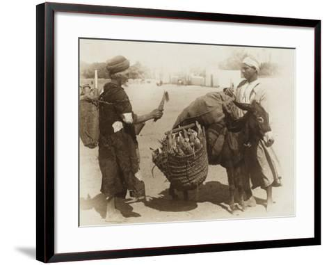 Egypt - Buying Corn from a Donkey's Panniers--Framed Art Print