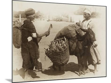 Egypt - Buying Corn from a Donkey's Panniers--Mounted Photographic Print