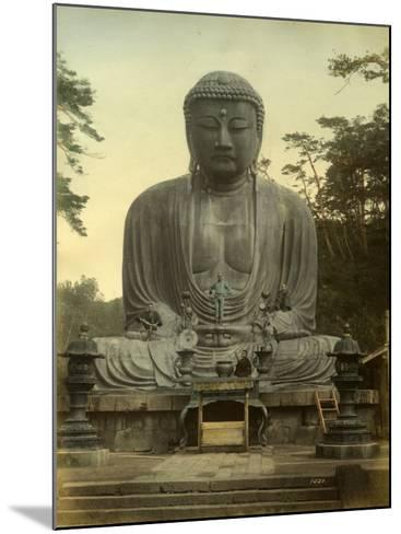 Great Statue of Buddha Daibutsu at Kamakura in Japan--Mounted Photographic Print