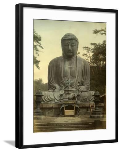 Great Statue of Buddha Daibutsu at Kamakura in Japan--Framed Art Print