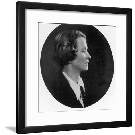 Edna St Vincent Millay American Poet--Framed Art Print