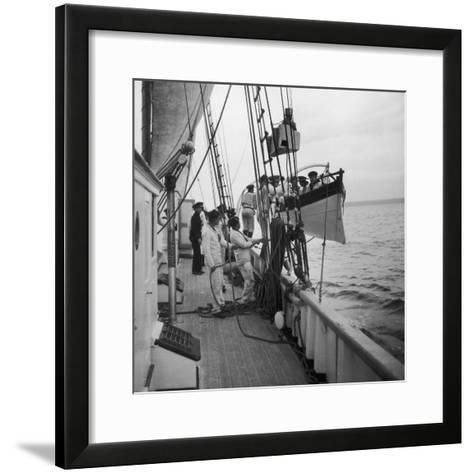 French Naval School WWII-Robert Hunt-Framed Art Print