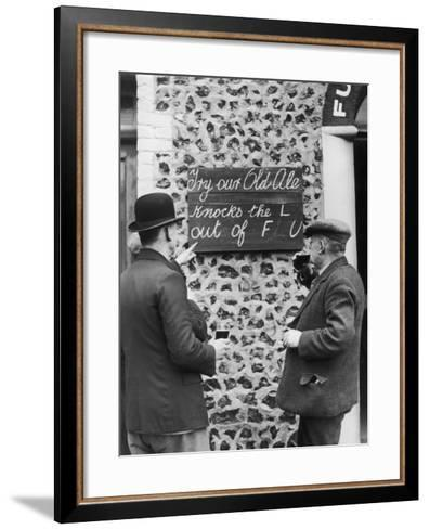Ale Cures the Flu--Framed Art Print
