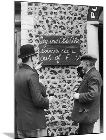 Ale Cures the Flu--Mounted Photographic Print