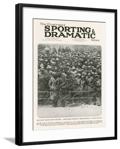 A Blizzard at Halifax Football Ground, 1933--Framed Art Print