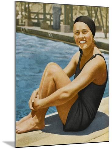 """Miss Olympia"" - Ingeborg Sjoquist, Swedish Swimmer--Mounted Photographic Print"
