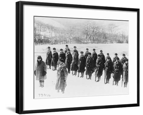 9th Battalion Hampshire Regiment in Siberia-Robert Hunt-Framed Art Print