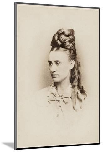 Fantastic Hairdo - Late 19th Century--Mounted Photographic Print