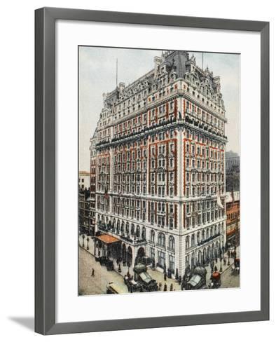 Knickerbocker Hotel - New York City--Framed Art Print