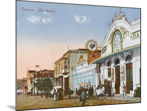 Izmir (Smyrne), Turkey - the Greek Cinema Down by the Quayside--Mounted Photographic Print