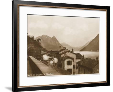Lake Lugano, Switzerland - Village of Gandria--Framed Art Print