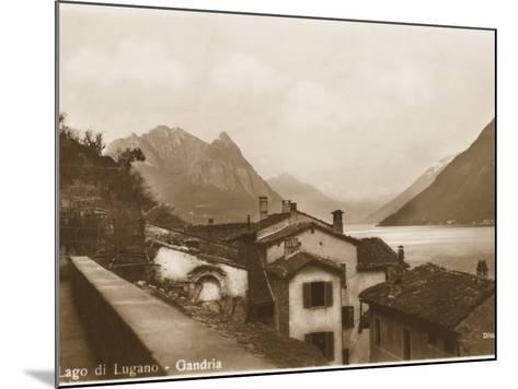 Lake Lugano, Switzerland - Village of Gandria--Mounted Photographic Print