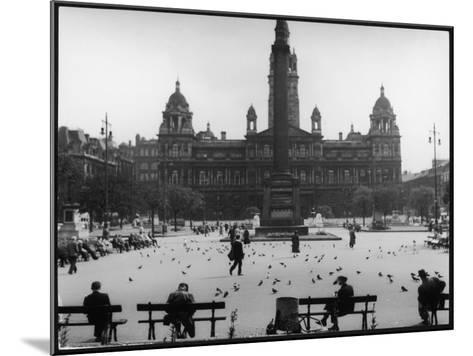 George Square, Glasgow--Mounted Photographic Print