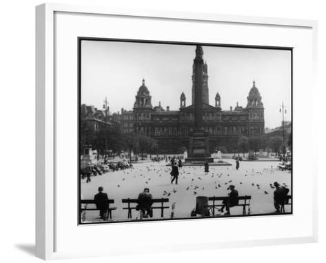 George Square, Glasgow--Framed Art Print