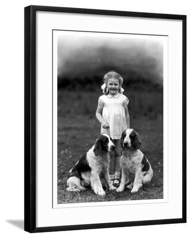 Child and Spaniel--Framed Art Print