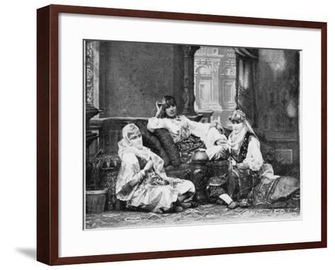 Group of Girls of the Harem, Port Said--Framed Art Print