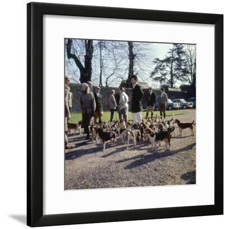 Fox Meet, Surrey 1960s--Framed Art Print