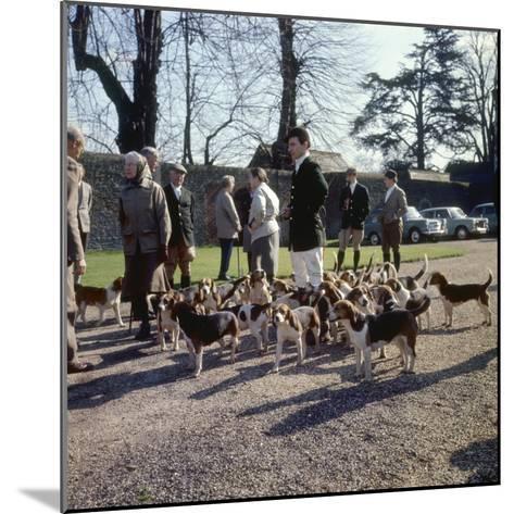 Fox Meet, Surrey 1960s--Mounted Photographic Print
