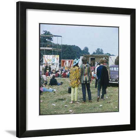 Hippies in Woburn 1969--Framed Art Print