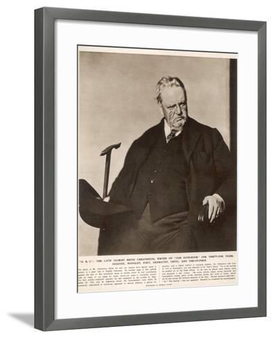 G.K. Chesterton (1874-1936)--Framed Art Print