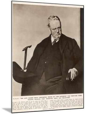 G.K. Chesterton (1874-1936)--Mounted Photographic Print