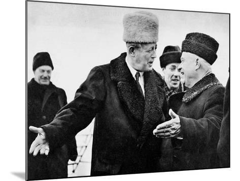 Harold Macmillan and Nikita Khrushchev--Mounted Photographic Print
