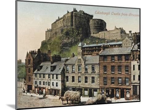 Edinburgh Castle from the Grassmarket--Mounted Photographic Print